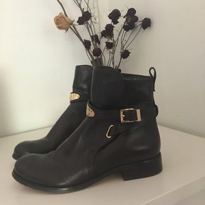 Michael Kors Brown Leather Booties